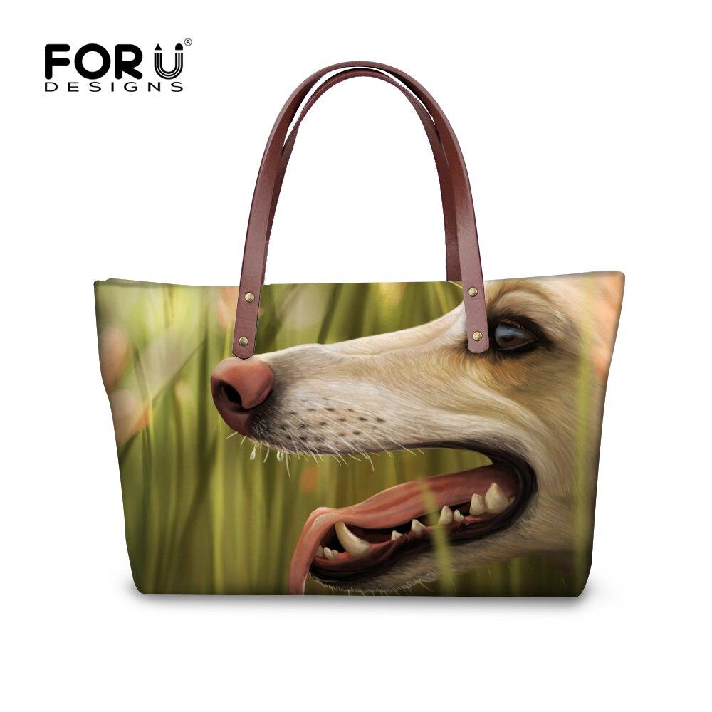 FORUDESGISNS Funny Greyhound Women Handbags Ladies Tote Woman Bags Designer Cross-body Bags For Ladies Bolsa Feminina sac a min