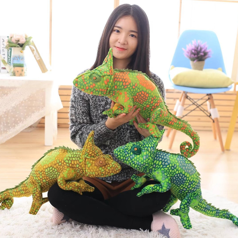80cm High Quality Large Cute Personality Big Lizard Green Chameleon Doll Plush Toy Doll Pillow Doll Large Birthday Gift super cute plush toy dog doll as a christmas gift for children s home decoration 20
