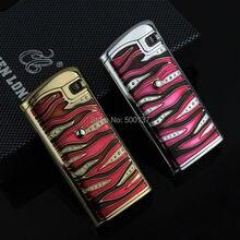 การออกแบบที่สมบูรณ์แบบไฟฟ้าอิเล็กทรอนิกส์เซ็นเซอร์สัมผัสสีแดงเจ็เปลวไฟบุหรี่ซิการ์W Indproofเบา