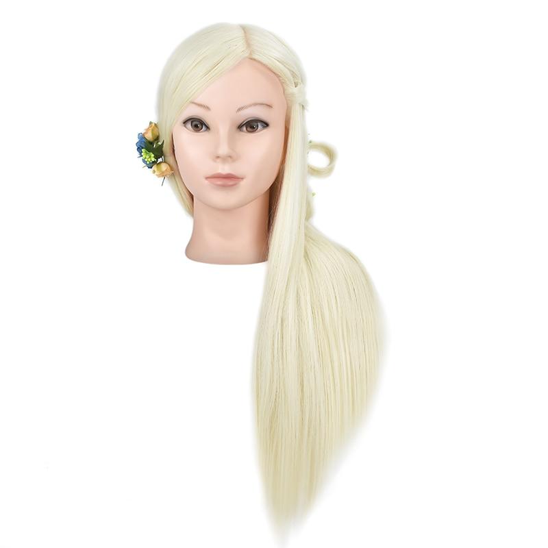 cabelo com 65cm cabelo loiro cabeça de