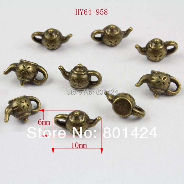 ᗐEnvío libre 100 unids 64-958 bronce antiguo tetera vintage joyería ...