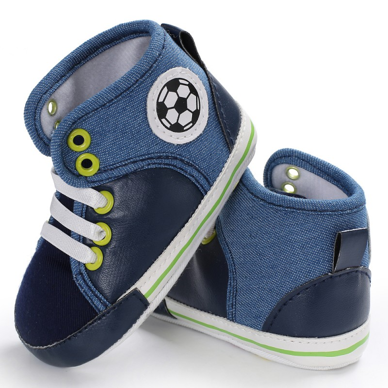 Newborn Baby Toddler Shoes T-tied Canvas High Top Spring/Autumn For 0-18 Months Baby Lac ...