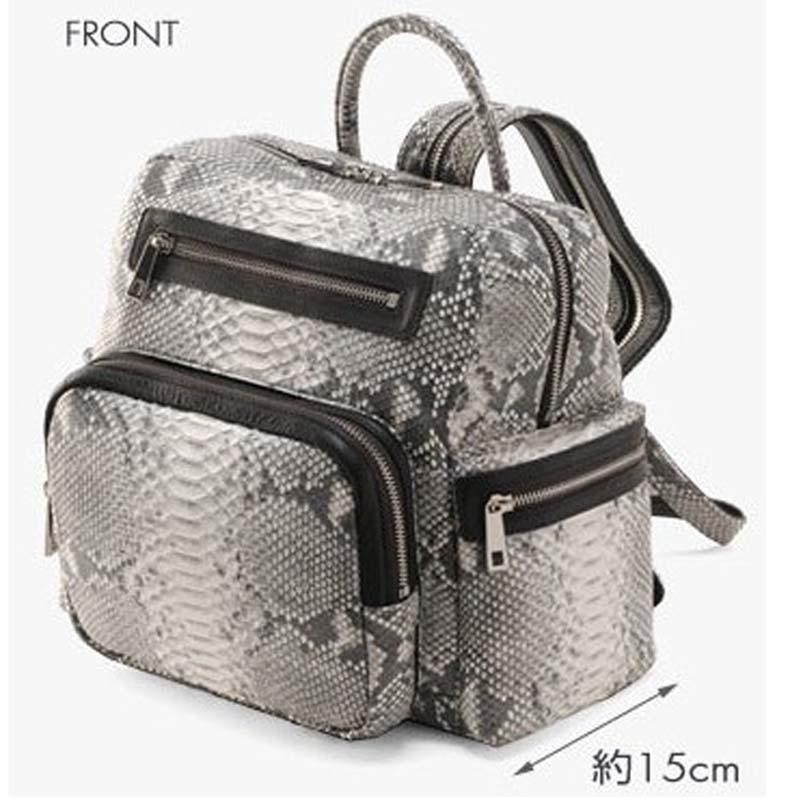 mengzhongmeng Snake skin The female backpack boas women backpack bag female 2018 new python skin bags snake skin bag per se two tone snake skin pants