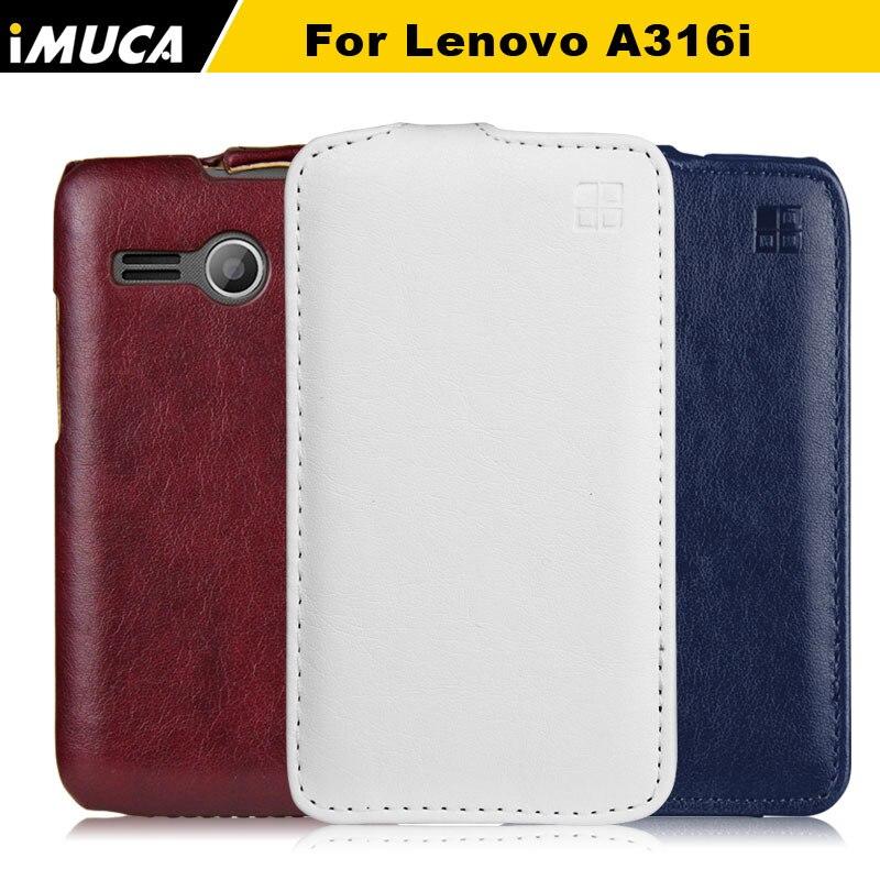 Pour Lenovo a316i cas couvercle rabattable en cuir cas pour lenovo a316i  a316 imuca couverture mobile téléphone accessoires et sac de détail paquet fec0cf20d126