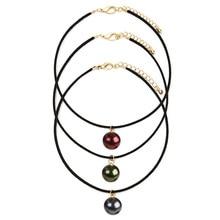 Nouveau mode bijoux en  choker collier boucles Ms pearl necklace Three color 1 package cadeau pour les femmes fille