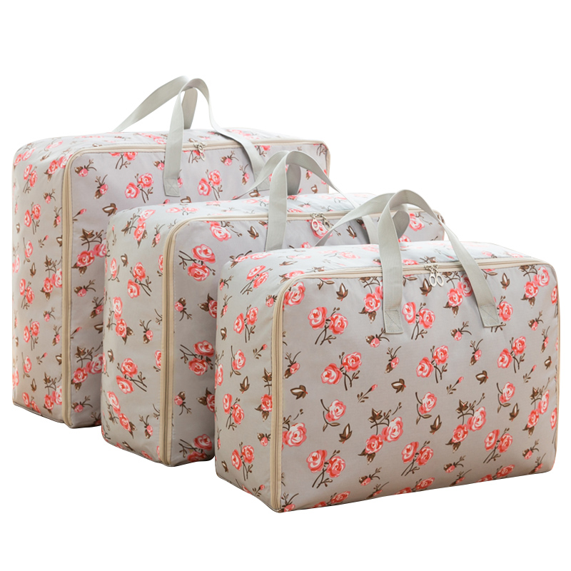 New Lovely Print Oxford Storage Bag With Handle Durable Closet Organizer For Travel Wardrobe Home Quilt Toy Sundries Tidy Bag