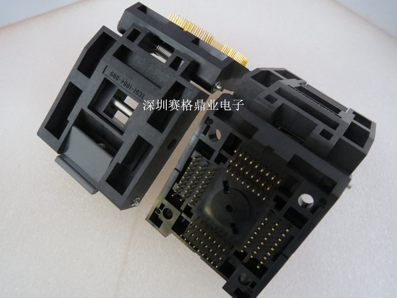 Clamshell IC51 1004 809 23 TQFP100 QFP100 IC Burning seat Adapter testing seat Test Socket test