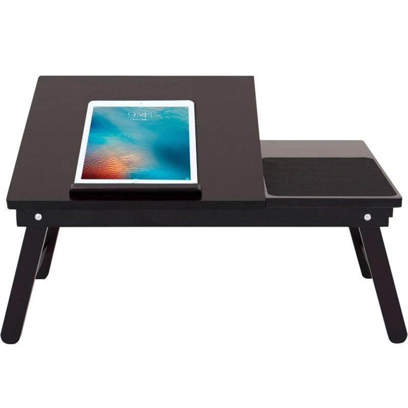 Simple Table d'ordinateur portable en bois maison ordinateur bureau étudiants dortoir lit Table support pliant pour ordinateur portable polyvalent petit bureau