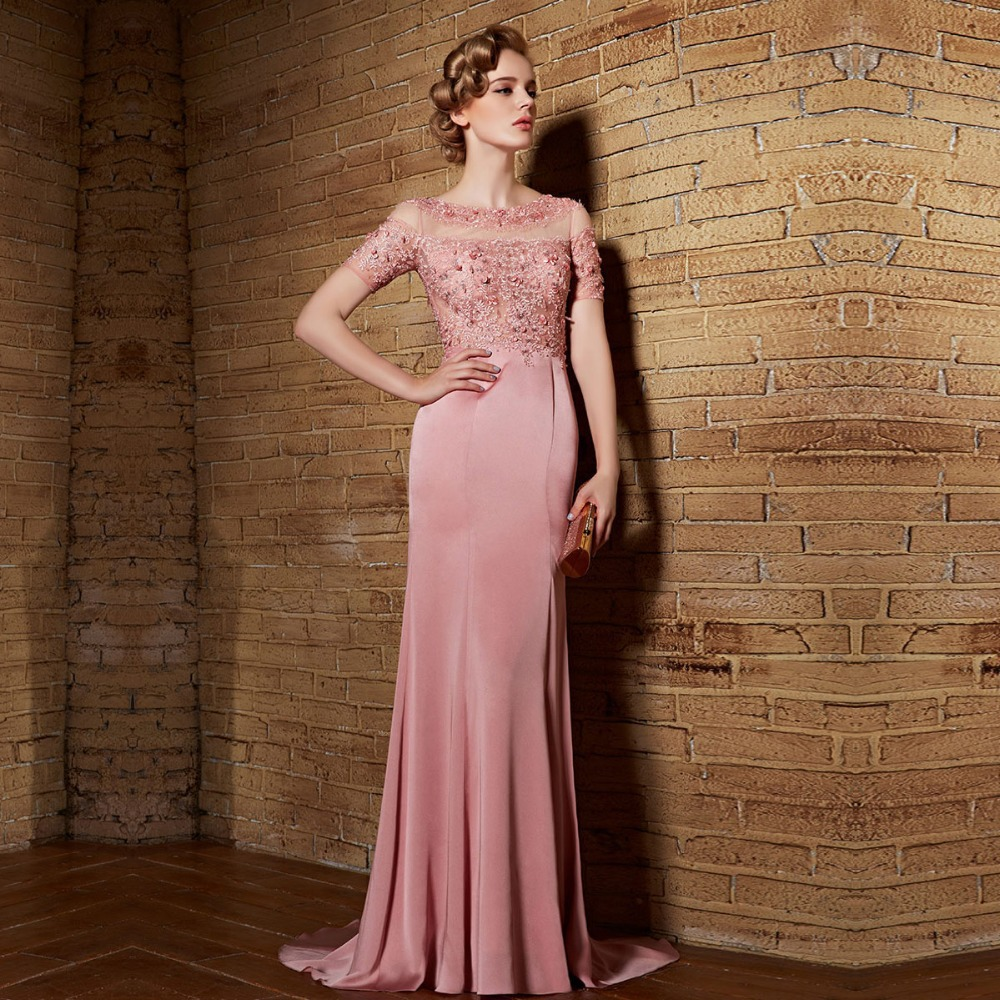 Aliexpress.com : Buy Coniefox 82123 Long Evening Dresses Pink Formal ...