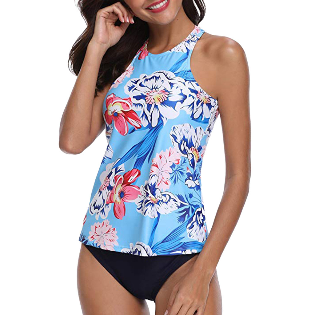 Bohemian Print Large Size Underwear Ladies Two-Piece Backless Top Bandage Strapless Back Sexy Beach Suit
