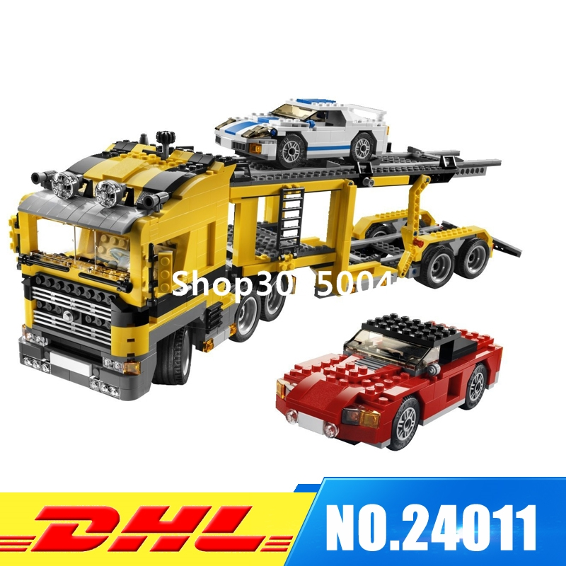 Lepin 24011 Technic Series 1344Pcs The Three in One Highway Transport Set Educational Building Blocks Brick Toys Model Gift 6753 compatible with lego technic creative lepin 24011 1344pcs 3 in 1 highway transport building blocks 6753 bricks toys for children