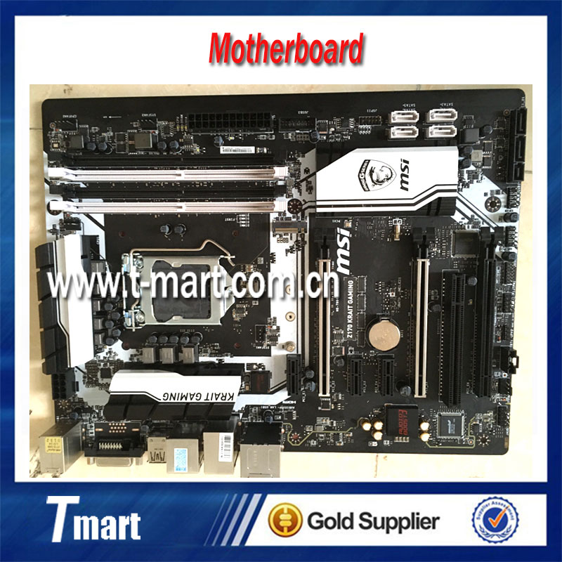 100% Working Desktop Motherboard MSI Z170 Krait GAMING System Board Fully Tested And Perfect Quality g31 775 ddr2 integrated board 945g 100% tested perfect quality