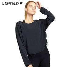 light&leaf new fashion casual women long sleeve modal top gyms t-shirt Solid girls brand quality tank winter t shirt
