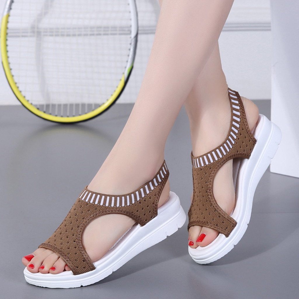 Comfortable Sandals Female Shoes Summer Wedge Woman Ladies New Slip-On