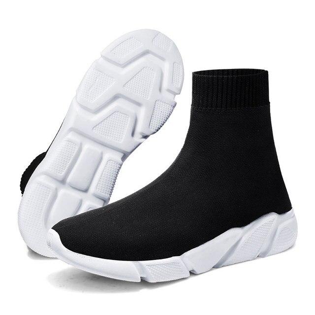 Kadın Çizmeler siyah çorap Ayakkabı Unisex sepet femme Rahat düz ayakkabı Bayanlar Çorap Çizmeler Açık Sneakers Tenis Feminino Çift