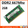 Hynix 2 gb ddr2 667 pc2-5300 sodimm laptop, notebook ddr2 667 mhz 2 gb pc2-5300S so-dimm, memória ram ddr2 2 gb 667 mhz sdram