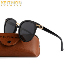 KEITHION Fashion Polarized Sunglasses Women Transparent Frame Cat Eye Sun Glasses Vintage Retro Oculos Ladies UV400