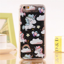 Lovely Unicorn Liquid Star Hard iPhone Case