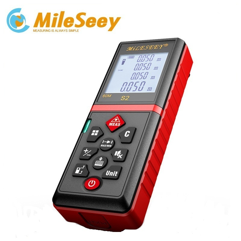 Laser Distance Meter NEW S2 40m Rangefinder And Measuring Tool And Power Button With Clip-in Laser Rangefinders from Tools    1