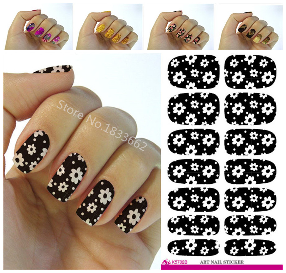 Fashion Nails Art Sticker Colored Bright Crystal Design Nail Sticker ...