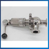 Stainless Steel Card Quick Relief Valve 1.6MPA Sanitary Safety Valve