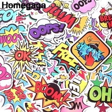 Homegaga 40pcs Text Message letters Pvc Sticker For scrapbooking car Luggage Skateboard Phone Laptop Wall Guitar Stickers D2144 homegaga 60pcs steven universe pvc waterproof cartoon for scrapbooking album luggage skateboard phone wall guitar stickers d1290