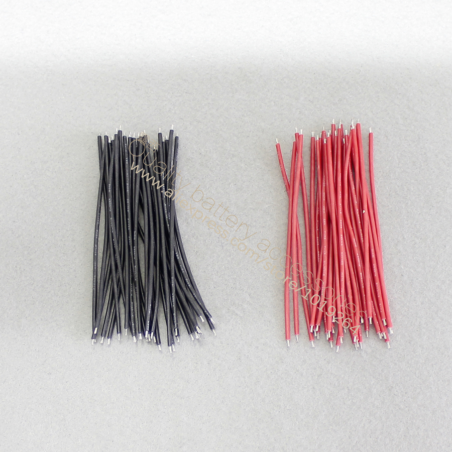 Купить с кэшбэком 30pcs/lot AWG silicone connecting line cord electronic line Double tin AV line wire 3239 silicone line 100 mm long