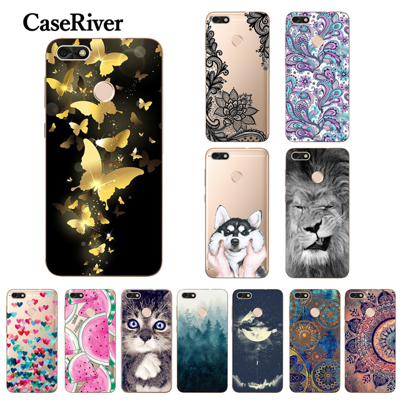 sFor <font><b>Huawei</b></font> P9 Lite Mini <font><b>Case</b></font> Transparent Frame Painted Soft TPU <font><b>Silicone</b></font> <font><b>Case</b></font> For <font><b>Huawei</b></font> <font><b>Y6</b></font> Pro <font><b>2017</b></font> SLA-L22 Phone Back Cover image