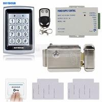Diysecur RFID металлический корпус клавиатуры дверей Управление доступом безопасности Системы Kit + Электрическая Блокировка + Дистанционное упра