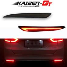 Vloeistof Stijl Rode Led Rear Bumper Reflector Verlichting Voor 2014 2016 Ford Fusion Mondeo Mistachterlichten, achterlichten, Remlichten