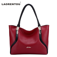 LAORENTOU Fashion Luxury Patchwork Handbags For Women Bags Soft Casual Tote Designer Bags Famous Brand Women