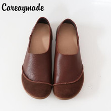 Careaymade-Pure handmade Mori girl retro literature shoes,Spring head layer cowhide casual shoes,Women genuine leather shoes