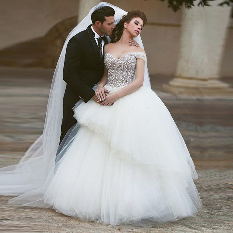 Cinderella Wedding: 2016 New Luxury Plus Size Cinderella Wedding Dress Ball