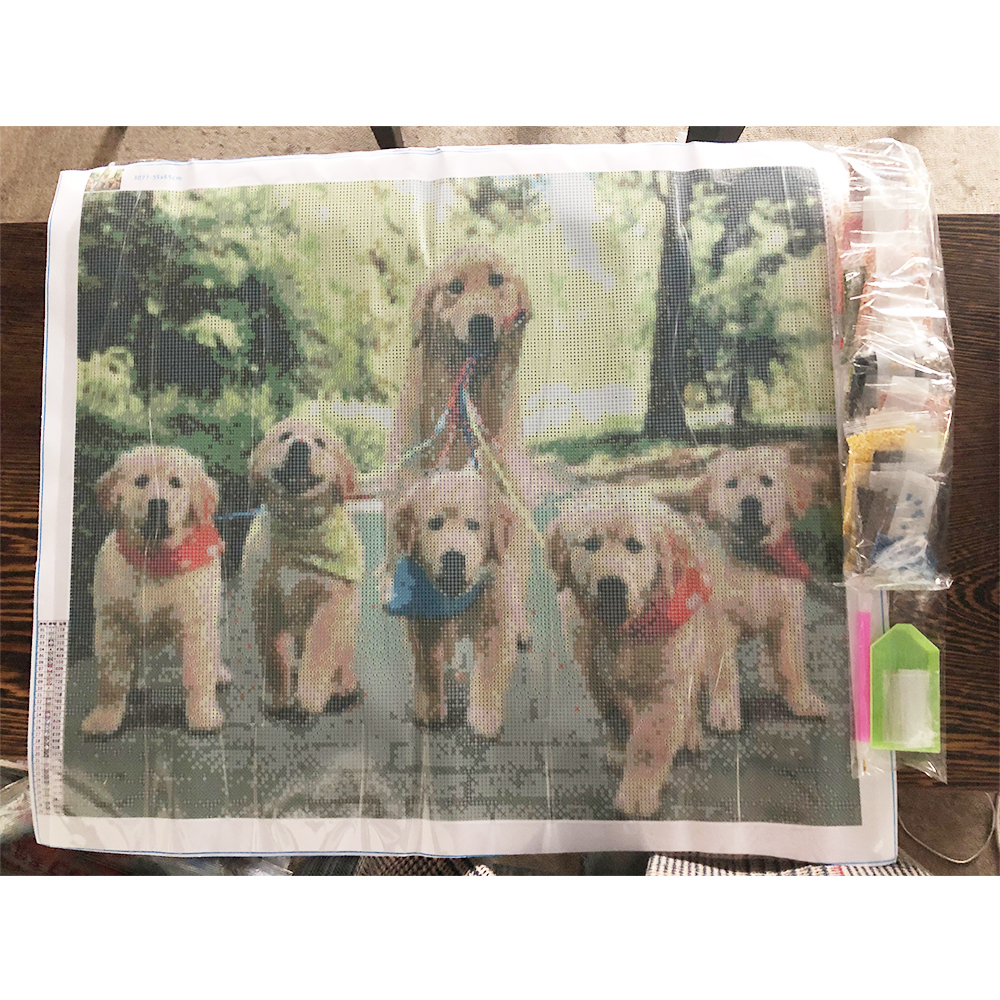 Dog family diy diamond painting Dog group diamond painting full round Dog group daimond painting cats diamond embroidery in Diamond Painting Cross Stitch from Home Garden