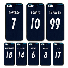 European Football RONALDO MODRIC KROOS Jersey style Real Madrid Custom Names and Numbers case for Apple iPhone 5 Phones cases