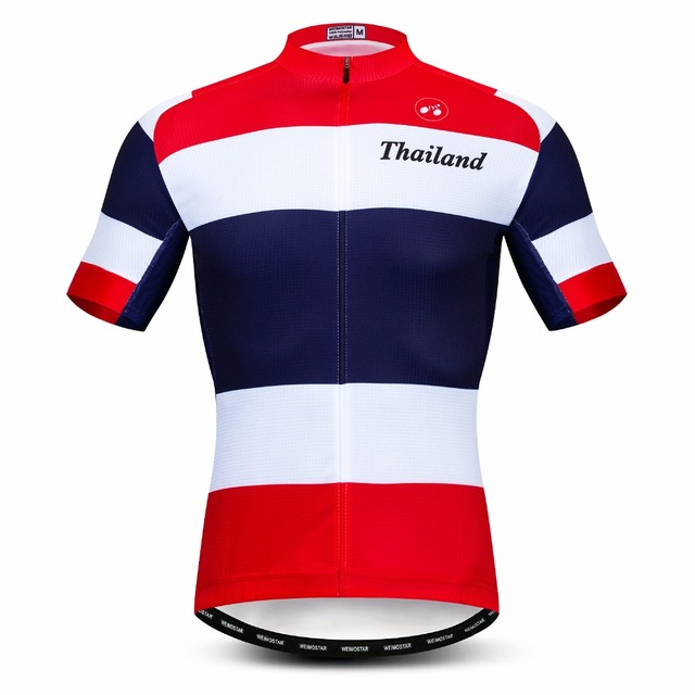 2019 Thailand cycling jersey Men s Bike jerseys Mountain MTB Shirt Short  sleeve Team Maillot Ciclismo racing Top Summer wear red 32af41b5a