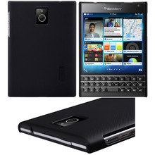 Black Nillkin Hard Matte Skin Case Shell Cover For BlackBerry Passport /Q30 Free Screen Film Protector New Retail Package