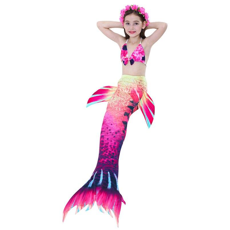 girls mermaid tail swimwear 2-5