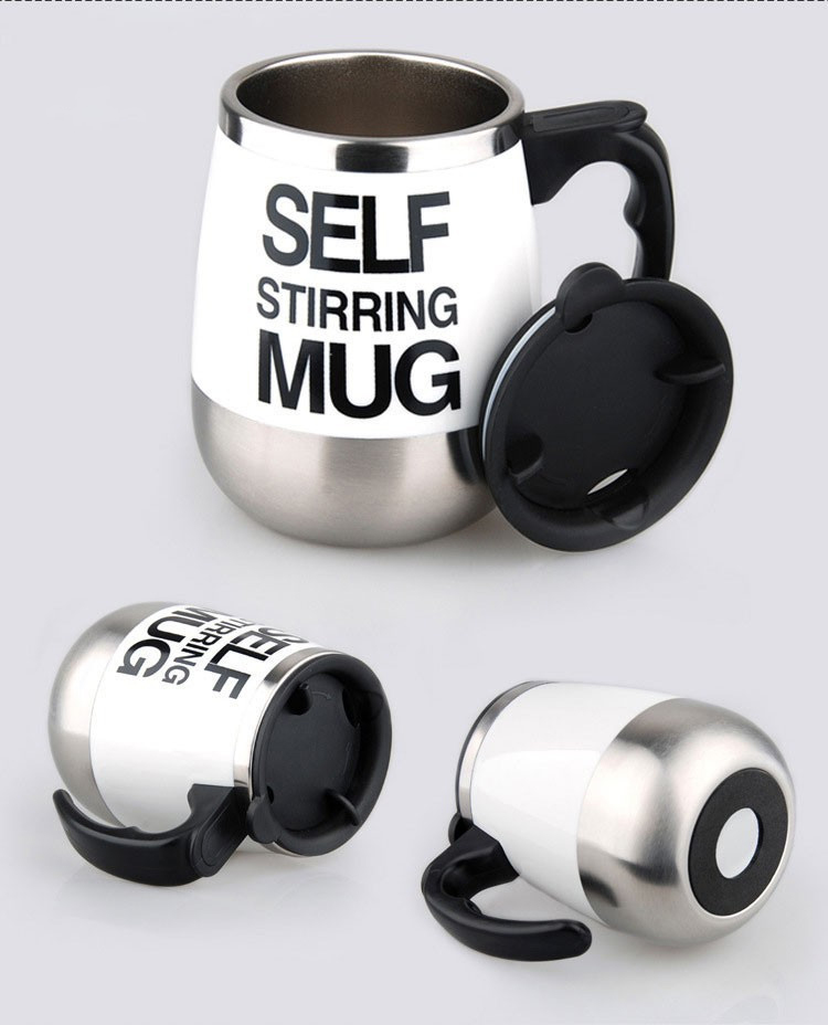 450ml Stainless Steel Self Stirring Mixing Mug Protein Shaker Multifunction Smart Mixer Blender Cup Automatic Electric Coffee Mugs (7)