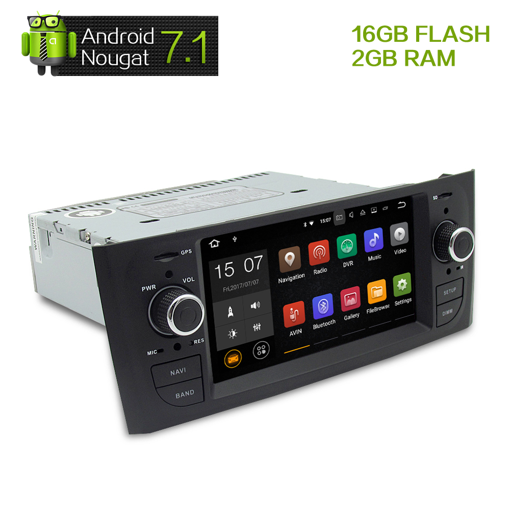Android 7 1 2G RAM Car DVD Stereo Headunit For Fiat Grande Punto Linea 2007 2008
