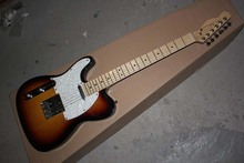 HOT wholesale customize High Quality !mahogany body left handed F tele sunburst electric guitar 15-9(China)