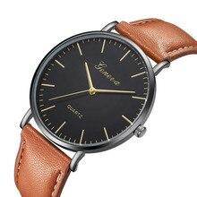 Watch Mens Relogio Montre Homme Simple Watches Men Sport Leather Casual Quartz Wrist Watch Men Watch Male Clock Dropshipping