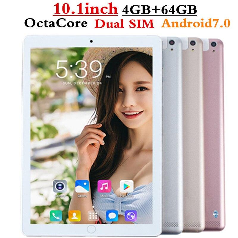 FENGXIANG Octa Core дюймов 10,1 дюймов планшетный ПК Android планшет 4 ГБ ОЗУ 64 ГБ Гб ПЗУ Dual SIM планшет Bluetooth gps Android 7,0 10 планшетов