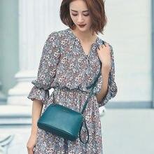 9145f8f474 PASTE Ladies  Genuine Leather Handbag Mini Shell Shoulder Bag Women Chain  Strap Crossbody Bag Clutch