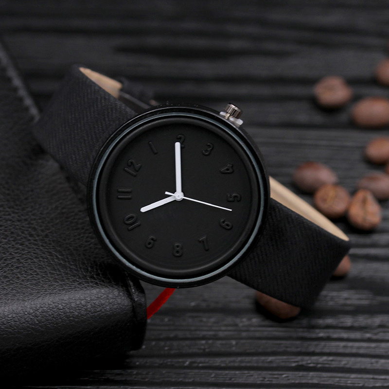 Fashion Womens watches top brand luxury Unisex Simple Fashion Number Watches Quartz Canvas Belt Wrist Watch relogio masculino ...