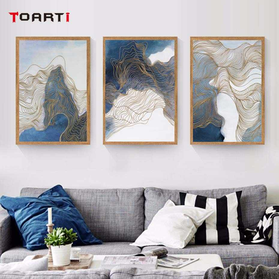 Mountains Contour Line Landscape Poster&Print Modern Canvas Painting Modular Wall Picture Living Room Wall Art Murals Home Decor