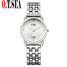 2017 Prime Model Luxurious O.T.SEA Watches Ladies Rose Gold Full Metal Rhinestone Crystal Quartz Watches Ladies Girls Wrist Watches