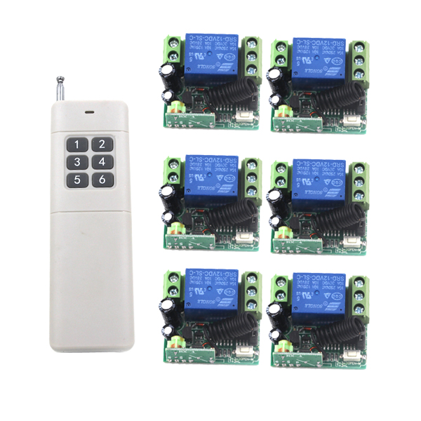 Lamp Remote Control Switch 12V Self-lock 1CH ON/OFF Smart Wireless 12V 10A Receiver Transmitter SKU: 5252 small relays wireless rc switch button signal line on off dc3 7 5v 12v controller remote control module