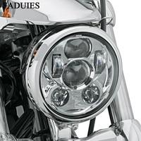 FADUIES Chrome 5.75 inch LED Headlamp 5 3/4 inch LED For Harley Iron 883 Dyna Street Bob FXDB Sportsters
