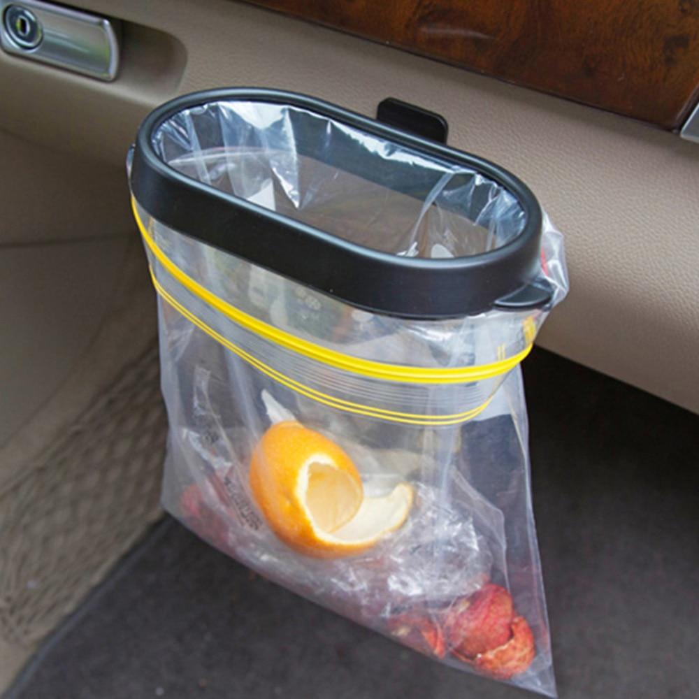 Durable Foldable Car Trash Bin Frame Auto Garbage Bin Auto Rubbish  Storage Waste Organizer Holder Bag Bucket Accessories